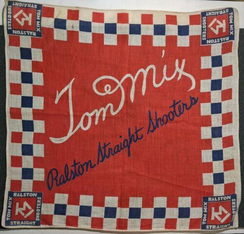 Vintage Tom Mix Ralston Straight Shooters Handkerchief