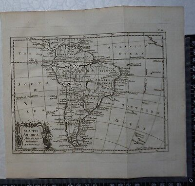 1758 - Thomas Kitchen Map of South America