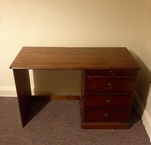 Wooden Desk Summer Hill Ashfield Area Preview