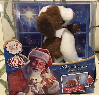 Elf On The Shelf Pets: A SaintBernard Tradition Stuffed St. Bernard & Book NEW