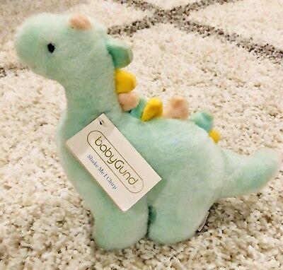 Baby Gund Dinosaur Beeper Mint Green Plush Stuffed Animal Baby Toy Baby Gund Stuffed Toy