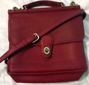 Coach Red Briefcase