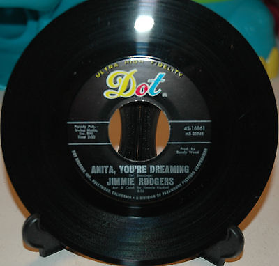 Jimmie Rodgers Anita Youre Dreaming   Its Over Dot 45 16861     Near Mint