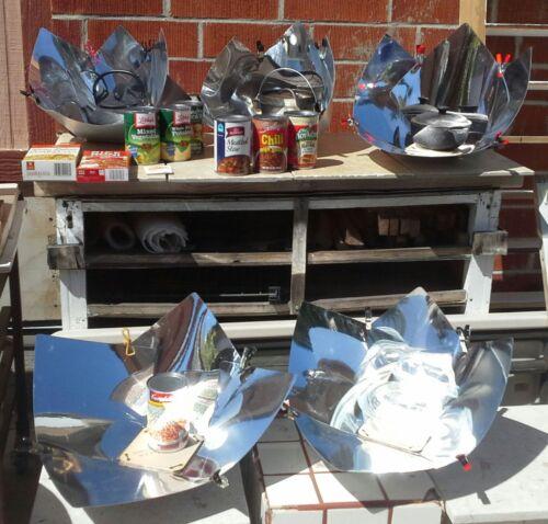 5 Solar Cooker camp stove Educational Kit Hot Dog Chicken Rice Water Copenhagen