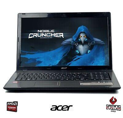 "Cheap Fast Laptop Acer AMD Dual Core 3GB RAM 320G HDD RADEON HD 4200 17.3"""