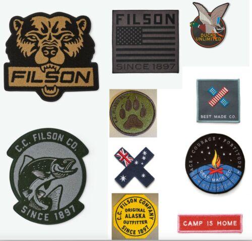 CC Filson & Best Made Co. Patches Badge Bag Tags Bear Chomp Smokey Jacket Emblem