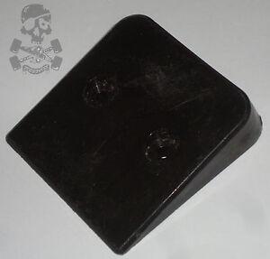 Negro-Wedge-Skate-Parte-trasera-Saver-1970s-Vintage-A-La-Vieja-Usanza-USA