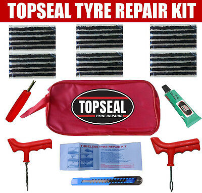 Tubeless Tyre Puncture Repair Kit With 30 Strings And Rema Tip Top Cement