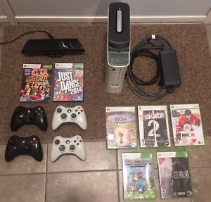 1200GB XBOX 360 WITH 4 CONTROLLERS AND KINECT, GAMES INCLUDED
