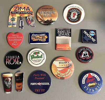 Huge Lot 223 Vintage 1990's Beer Alcohol Pins Promo Bar Buttons Zima Sam Adams for sale  Shipping to Canada