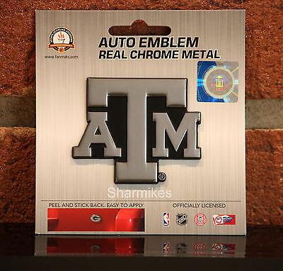 Texas A&m Aggies Metal (Texas A&M Aggies Real Chrome Metal Auto Car Truck SUV Emblem)