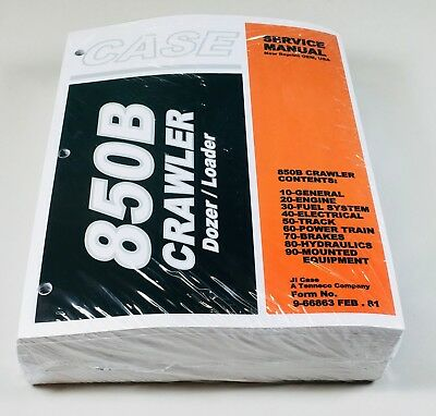 Case 850b Crawler Bulldozer Loader Service Repair Shop Manual Binder Ready New