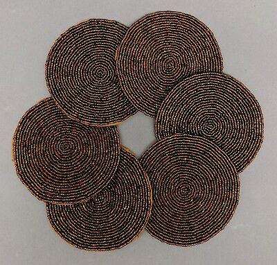- Glass Bead Coaster Bronze Color 4