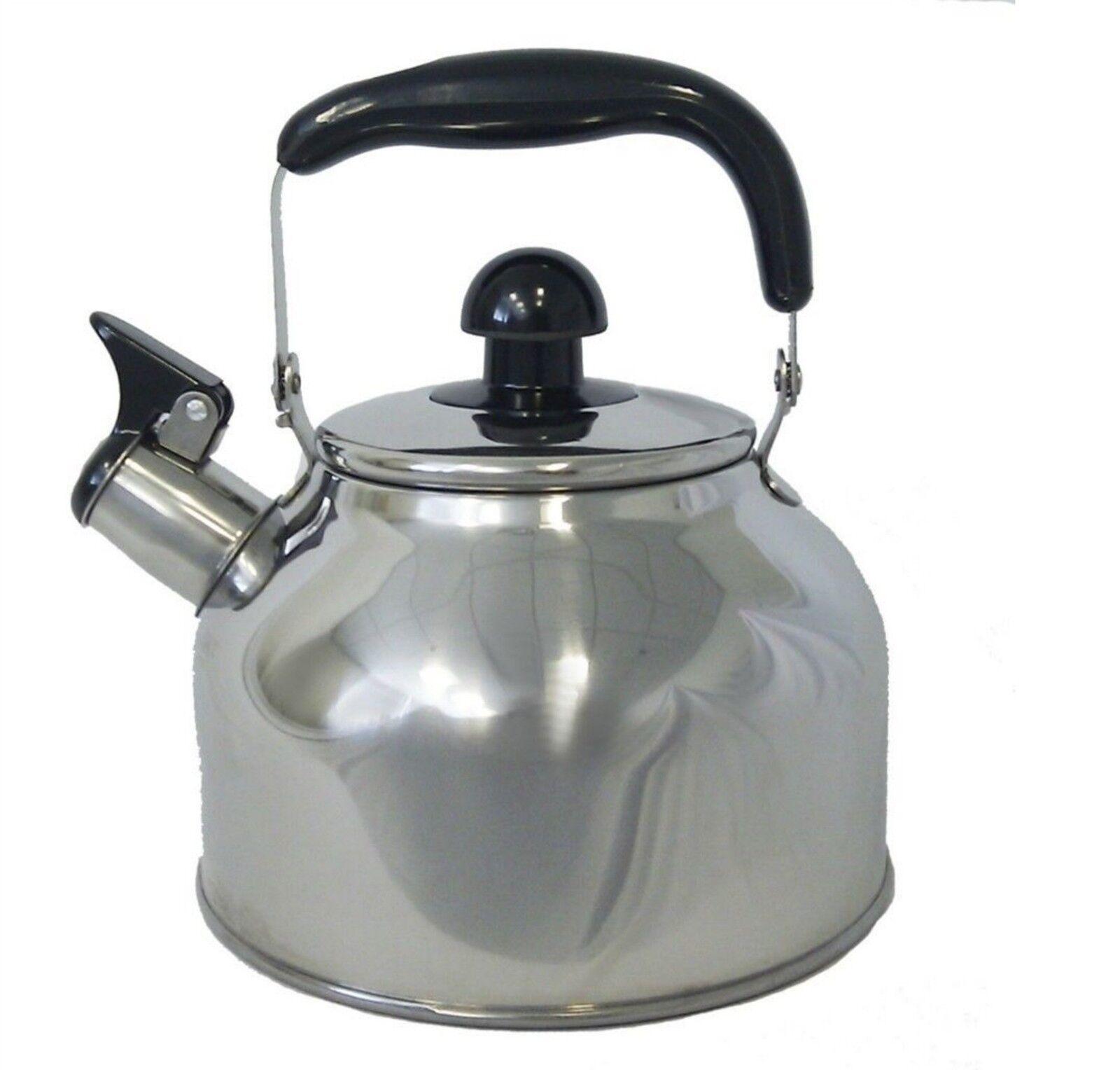 stainless steel large 4 5 liter quart whistling tea kettle pot infuser wk1922 ebay. Black Bedroom Furniture Sets. Home Design Ideas