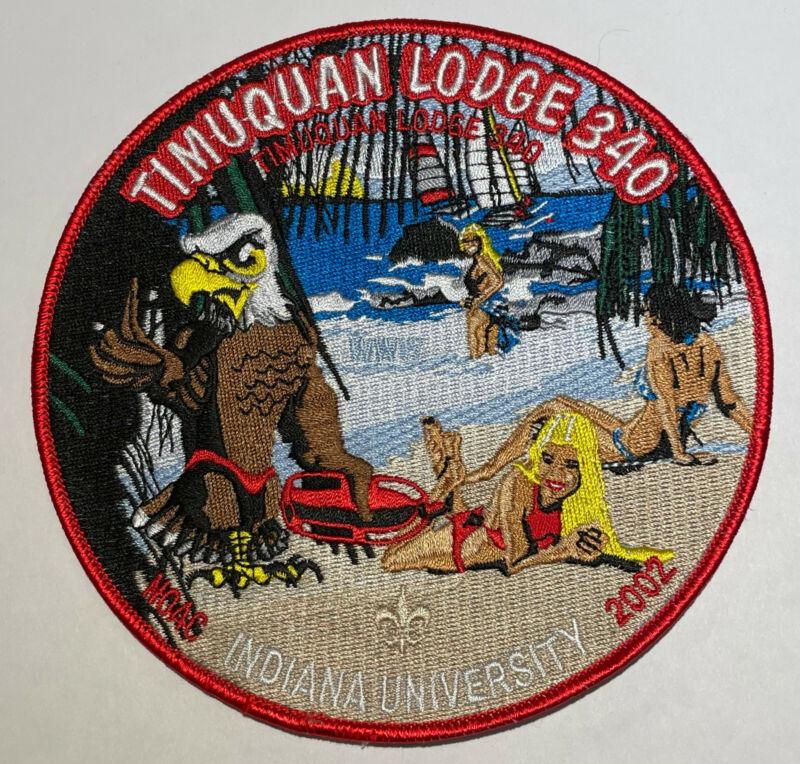 OA Lodge 340 Timuquan Jacket Patch 2002 NOAC Boy Scout TK2