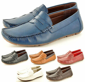 Mens-Leather-lined-Casual-Loafers-Moccasins-Slip-on-Driving-Shoes-UK-Sizes-6-11