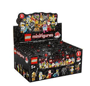 LEGO 8833 Minifiguren Serie 8, 1 kompletter Satz = alle 16 Figuren mit BPZ NEU