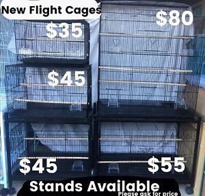 5 sizes flight cage's now available from $35ea; Brand New; eftpos avai Meadowbrook Logan Area Preview