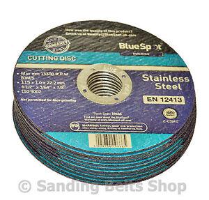 10 Metal Cutting Disc Flat Blade Stainless Steel 115mm Air Cut off Thin 4 1/2