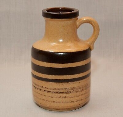 Vintage art pottery jug with handle W. Germany 414-16 stoneware Scheurich