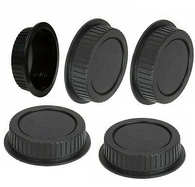 5 Tapas De Parte Trasera Cubierta Objetivo Compatible Con Canon EOS Italia