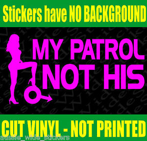 Funny-Nissan-PATROL-4x4-Girl-car-Stickers-MY-GQ-GU-UTE-WHEELS-Diff-Bullbar-Rims