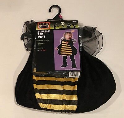 Totally Ghoul Bumble Bee Vest Halloween Costume 1 - 2 Years NEW Infant's