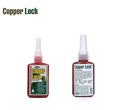 Copper Lock No Heat Solder 2oz Tube Red 10-800 - Made In Usa