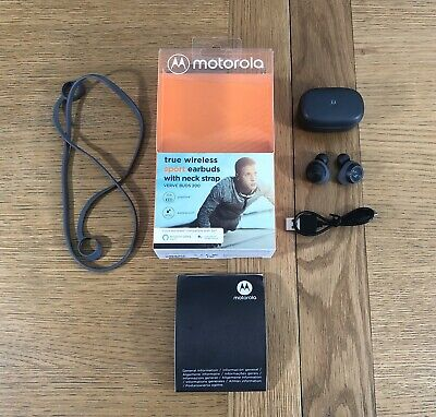 Motorola Verve Buds 200 Wireless Bluetooth Earphones Earbuds Headphones - Black