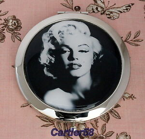 Marilyn-Monrose-Style-Handbag-Lady-Compact-Mirror-FREE-Gift-Box-and-Pouch