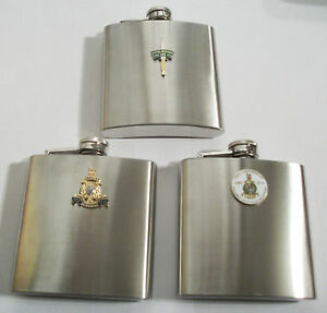 ROYAL-MARINES-350TH-ANNIVERSARY-HIP-FLASK-CHOICE-OF-3-BADGES