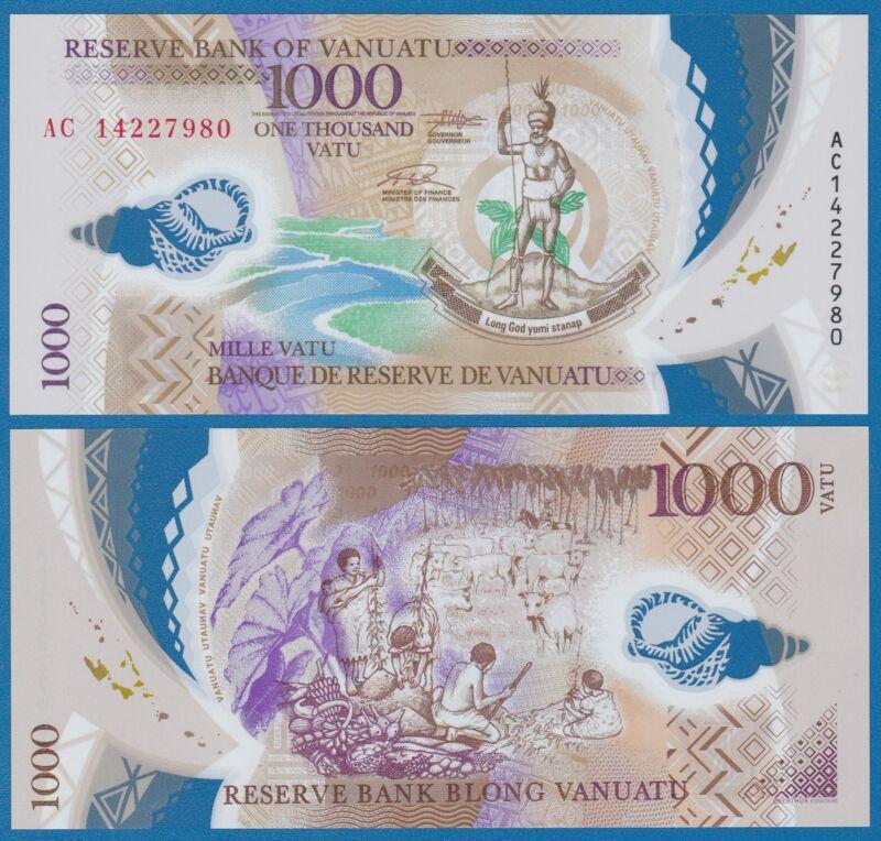 Vanuatu 1000 Vatu P 13 2014 UNC Polymer  Low Shipping! Combine FREE! (16)