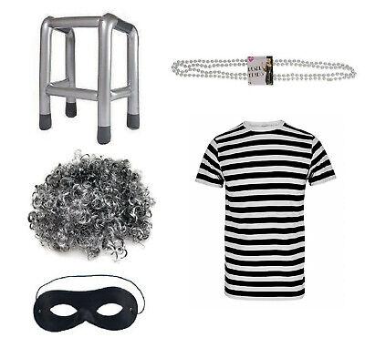 FANCY DRESS GANGSTA GRANNY COSTUME SET HEN GANGSTER OUTFIT DAVID WALLIAMS - Gangsta Halloween Outfit