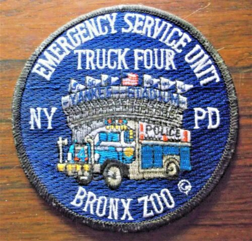 GEMSCO NOS Vintage Patch NYPD ESU - Emergency Service UNIT Truck 4 - Bronx Zoo