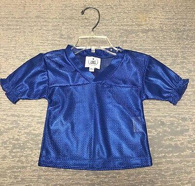 Blank Spirit Jersey (Girls 2T Blank Blue Ruffled Halloween Costume Football Spirit Jersey NWT)