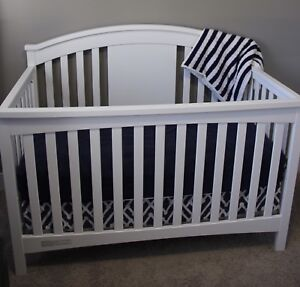 Delta white crib and change table