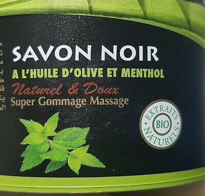 MOROCCAN NATURAL BIO MENTHOL 250g BLACK SOAP BELDI SAVON NOIR TREAT YOUR SKIN