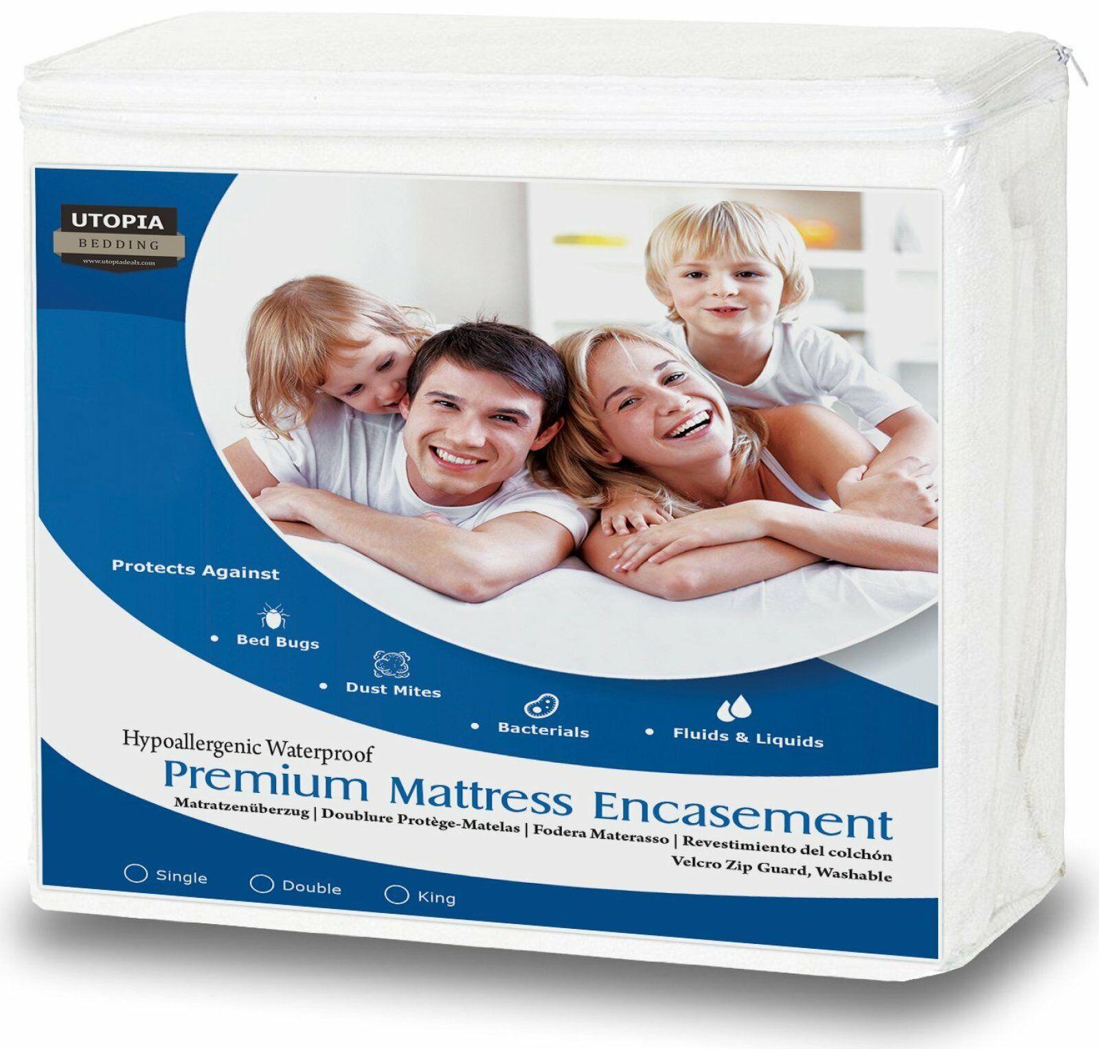 Fermeture éclair Imperméable Matelas enrobage Bed Bug proof cover Double King