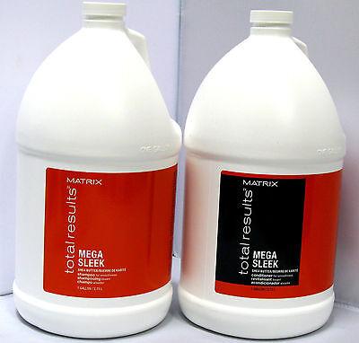 Matrix Mega Sleek Shampoo and Conditioner Gallon Set Total Results 128 oz Duo