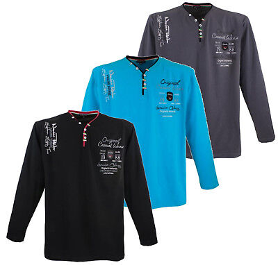 7 Sweatshirt (LAVECCHIA Sweatshirt 3XL 4XL 5XL 6XL 7XL 8XL Shirt Lang Schwarz Grau Blau