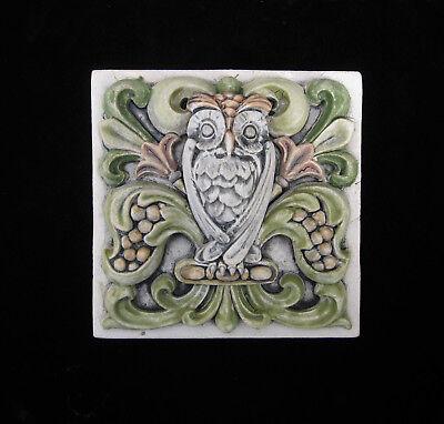 OWL BIRD HARRY POTTER WISDOM GARDEN ARTS & CRAFTS GOTHIC ELLISON TILE