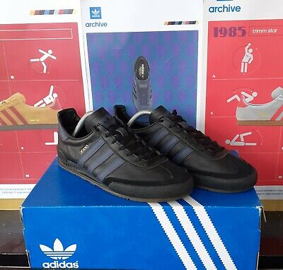 Adidas Jeans Size 8 2018 Release Black Leather/trace blue Detail