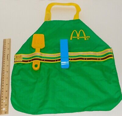 VTG1988 Fisher Price McDonald's Childs Play Apron, Flipper Tongs To Crew Uniform