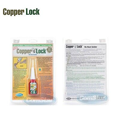 Copper Lock No Heat Solder 10ml Bottle Red 10-805 - Made In Usa