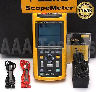 Fluke 124 Scopemeter 25mss Dual-channel 40mhz Handheld Oscilloscope 124s
