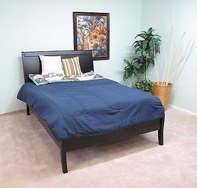 Cherry Full Size Bed - Solid Wood Full Size Platform Bed Dark Mahogany Cherry Finish *LOCAL PICK UP*