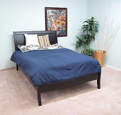 Solid Wood Full Size Platform Bed Dark Mahogany Cherry Finish *LOCAL PICK -
