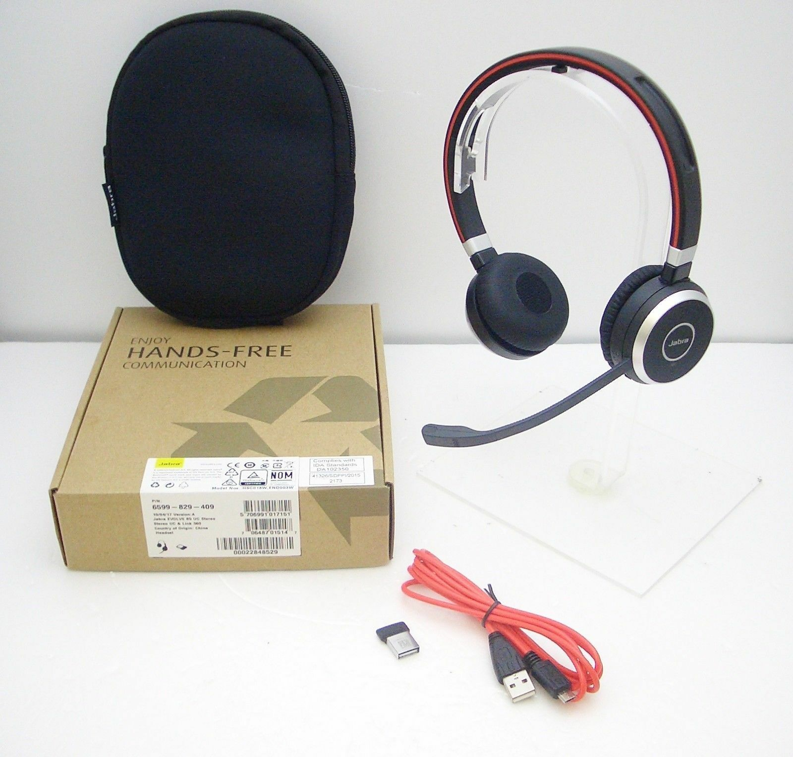 Music Headphones Includes Link 360 Jabra Evolve 65 Uc Stereo Wireless Bluetooth Headset U S Retail Packaging
