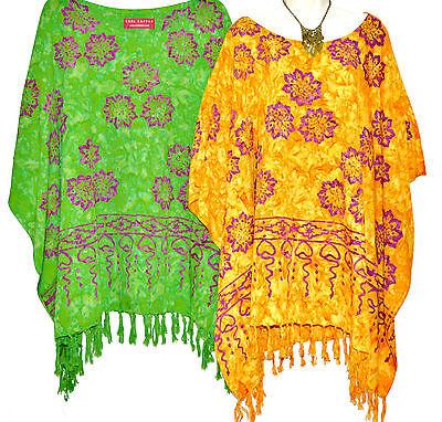 JASMINE Poncho Top Bluse Tunika Einheitsgröße Plus Dreist Hippie Kostüm