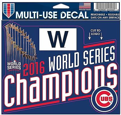 Chicago Cubs 2016 World Series Champions Decal Multi Use 13369